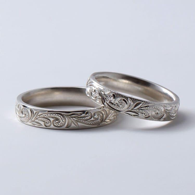 男性にも喜ばれるフルオーダーの結婚指輪